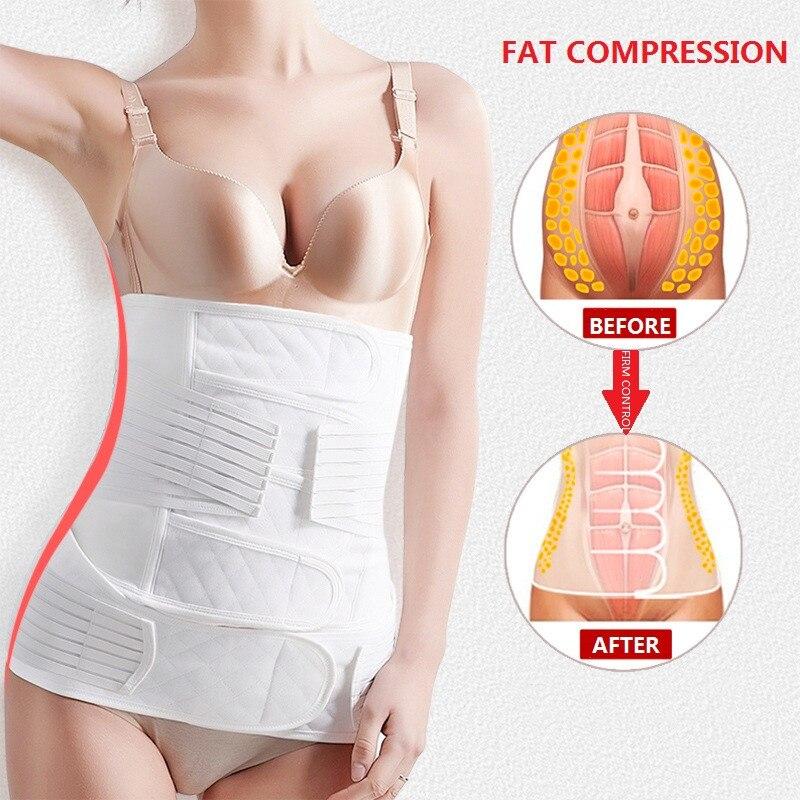 Image 2 - NINGMI Slim Waist Trainer 2 in 1 Abdomen Pelvis Belt Women Pregnancy Corset Postpartum Recovery Bandage Body Shaper Back SupportWaist Cinchers   -