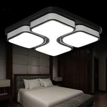 110 V/220 V Kare Akrilik LED Tavan Işık Beyaz/Siyah renk için Demir LED Tavan lambası oturma oda Modern ev aydınlatma