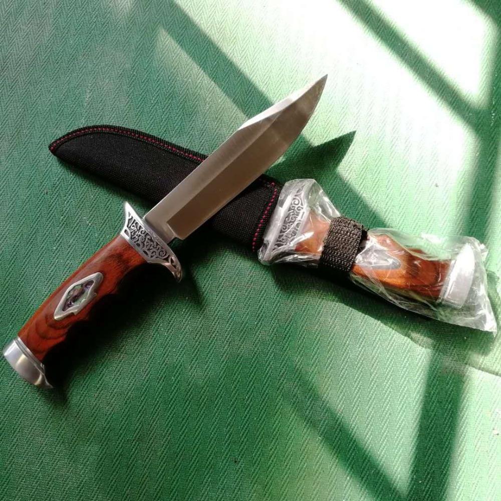 Lâmina fixa Sobrevivência Faca de Caça Tático Faca de Cozinha Chef Knive Faca Navajas Zakmes Cuchillos couteau de Poche Coltelli Mes