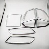 Para ford kuga 2013 2015 abs chrome ac ar condicionado ventilação capa 5 pces Estilo de cromo     -