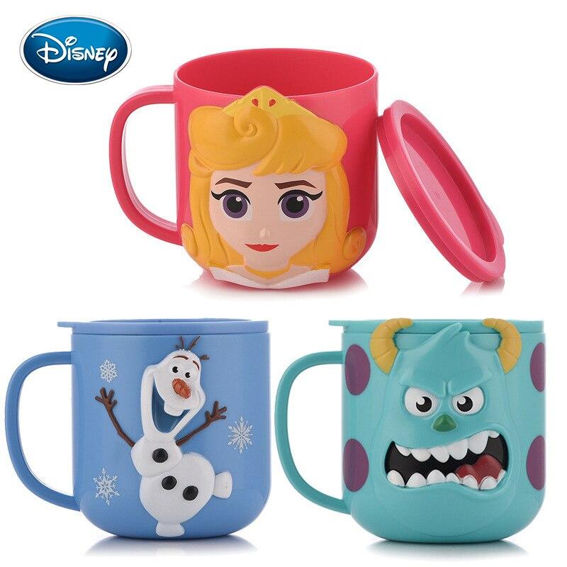 Disney enfants tasse maternelle élèves Drop-proof paille bouilloire été hommes et femmes mignon en plastique paille tasse