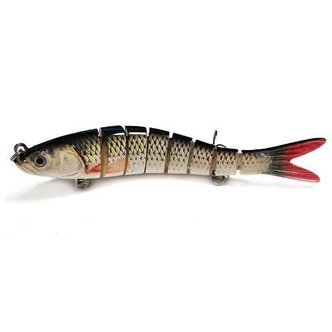 isca de pesca dura 14 cm 25g multi articulado 3d olhos 8 segmento rigido lure