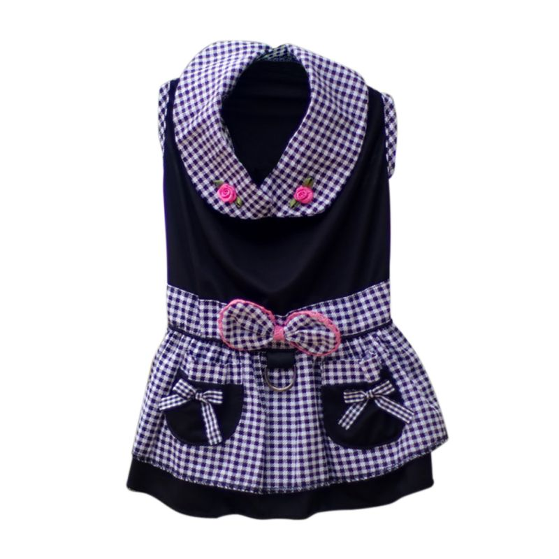 2017 Spring Autumn Pet Dog Striped Flowers Printed Clothes Dress Pet Products Cute Chihuahua Clothing Teddy Yorkie XS S M L XL