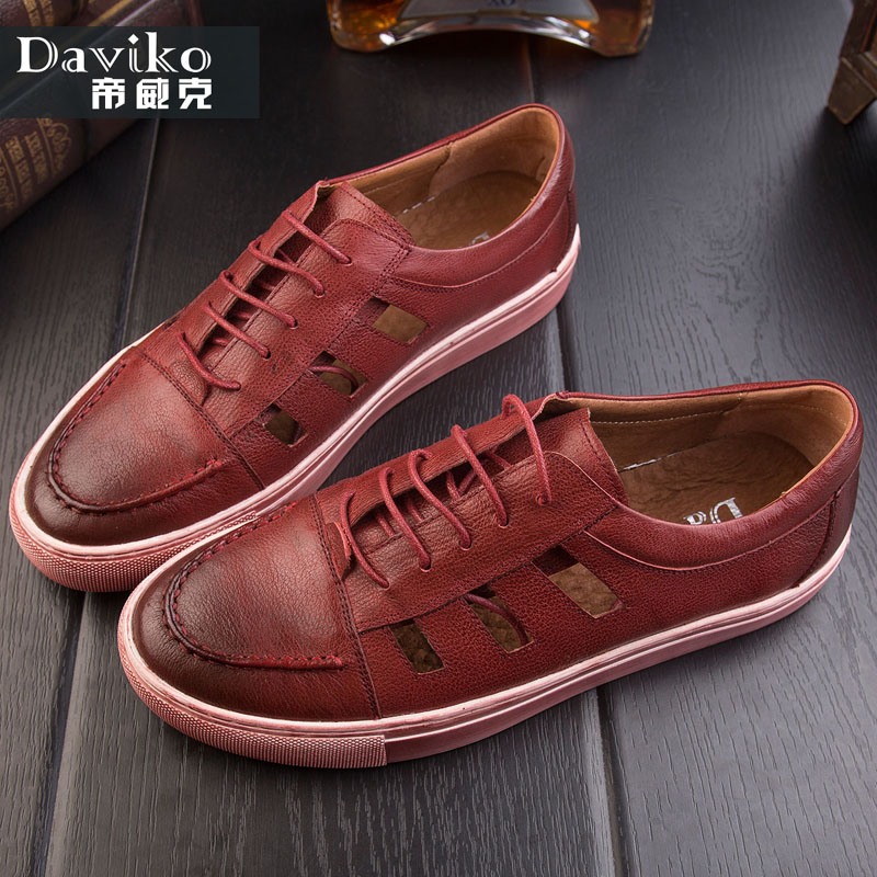 Daviko hollow out sandals male han edition tide men casual shoes men the summer cool leather shoes YC10046-8 summer men sandals han edition leather sandals beach shoes slippers male fashion casual shoes men s shoes leather sandals