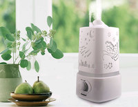 2016 Aromatherapy Diffuser Air Humidifier LED Night Light With Carve Design Ultrasonic Humidifier Air Aroma Diffuser