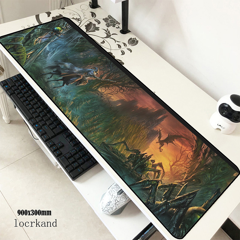 Lord Of The Rings Mouse Pad 90x30cm Mousepads Adorable Gaming Mousepad Gamer HD Pattern  Personalized Mouse Pads Keyboard Pc Pad