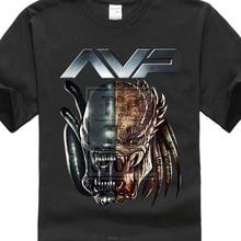 """mados dizainas """"Alien Vs Predator Head"""" """"Custom Printed"""" vyriškos marškinėliai """"Hipster"""" viršeliai pritaikyti spausdintus trumpus rankovių tees"""