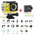 "F60 Allwinner V3 4K/30fps WiFi Action Camera Full HD 1080P 2.0""LCD Diving 30M go Waterproof pro Sport DV Two Batteries"