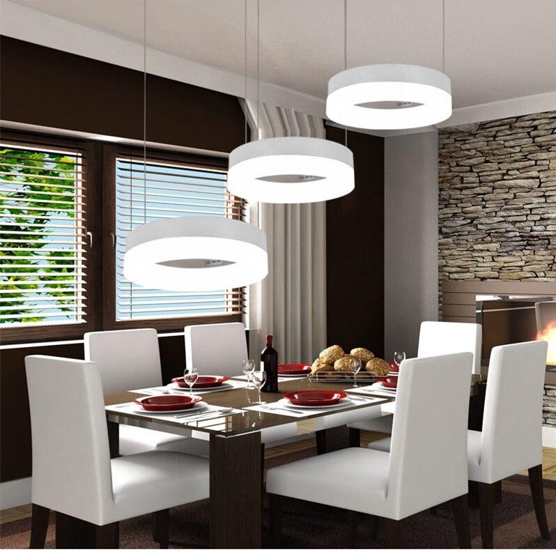 free modern led pendant lights for dining room living room acrylic aluminum circle rings led pendant - Modern Light Fixtures Dining Room