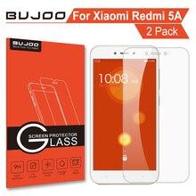 2 Pack 100% Original BUJOO Real 2.5D 0.3mm 9H Clear Screen Protector Tempered Glass For Xiaomi Redmi 5A Xiomi Hongmi 5 A HD Film