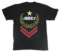 Marke Kleidung Sommer 2018 Young Jeezy Military Logo Schwarz T-shirt Neue Offizielle Freies Schlüsselanhänger Halskette T Shirt Design Kundenspezifische