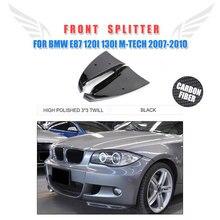 Углеродного волокна/FRP Неокрашенный автомобильный бампер передний бампер разветвители для хэтчбеков BMW серий 1 E87 M Tech M Sport бампер 07-10 2 шт./компл