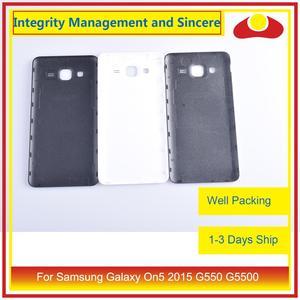 Image 3 - 10 pièces/lot pour Samsung Galaxy On5 2015 G550 G550F SM G550FY boîtier batterie porte arrière couverture boîtier châssis coque
