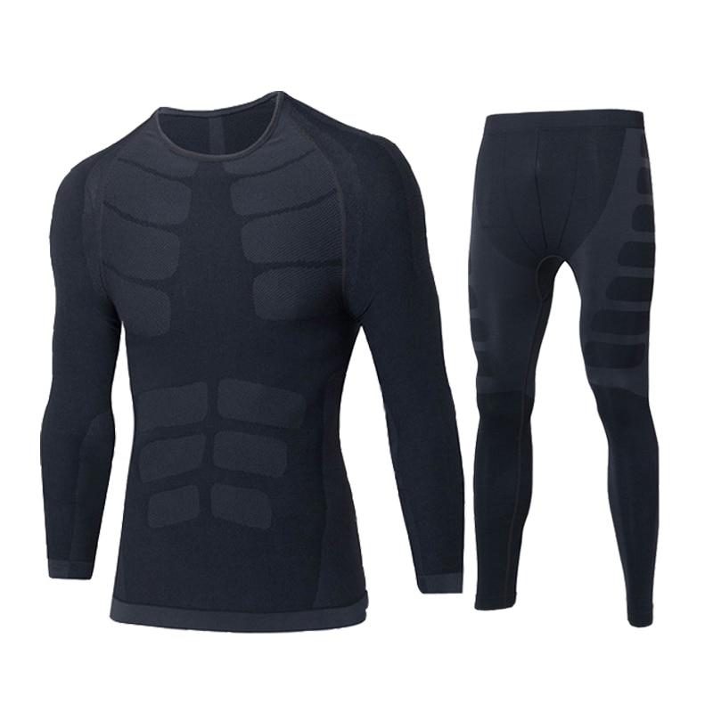 Men Winter Thermal Underwear Male Tops Bottoms Warm Long Johns Sets