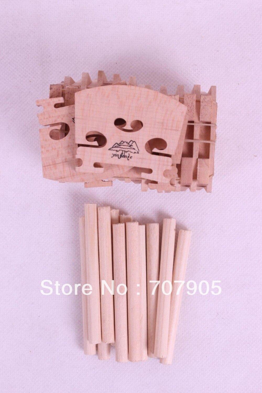 ̿̿̿(•̪ )4/4 partes de violín, 20 unids puente de madera de arce ...