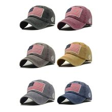 Women Men Baseball Cap American Flag Embroidered Cotton Hat Headwear Outdoor Sports Wear With Adjustable Back Closure
