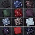 Мужчины Полосой Горошек Цветочные Пейсли Сетки Повседневная Платок Карманный Площадь Ханки BWTQN0039