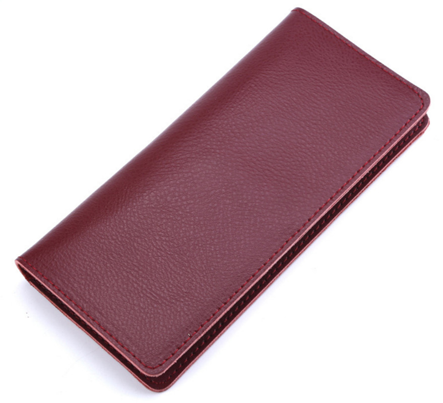 Wallet  Purses 100% Genuine Leather  Women Long Wallets For Ladies Money Coin Pocket Card Holder Men Cowhide Wallets Clutch Bag