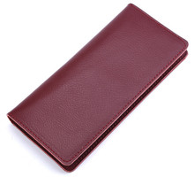 Wallet  Purses Genuine Leather  Women Long Wallets For Ladies Money Coin Pocket Card Holder Men Cowhide Wallets Clutch Bag fashion women genuine leather red black bag cowhide wallet card money holder clutch purse long short purple original wallets