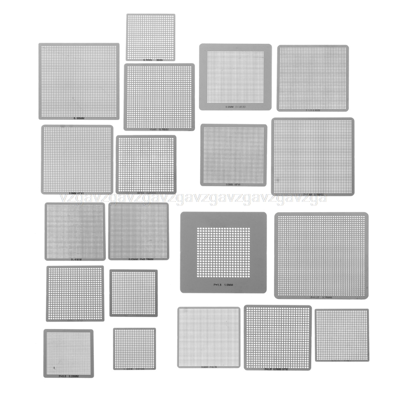 27Pcs BGA Stencils Universal Direct Heated Stencils For SMT SMD Chip Rpair Au11 Dropship