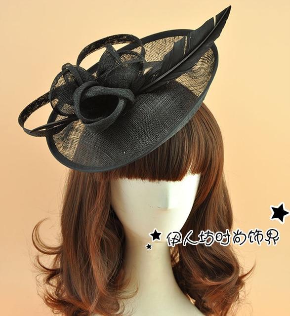 Wedding Veil with Feather Princess Wedding Bride Fascinator Vintage Woman Evening Hats Wedding Accessories Evening Party Hats