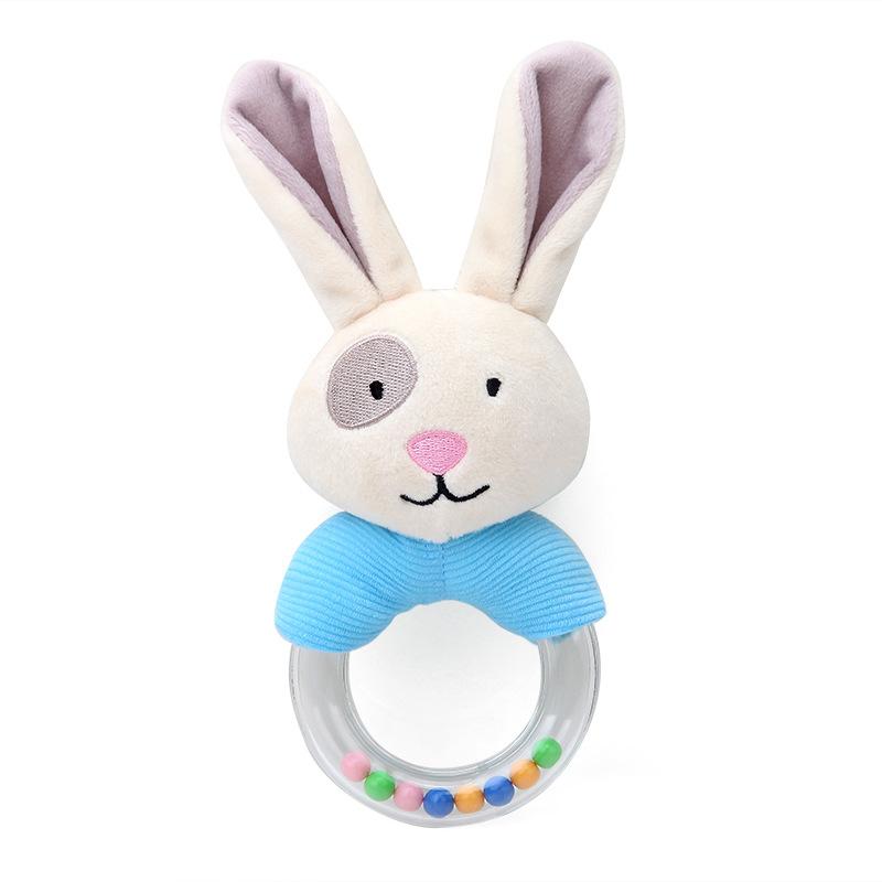 Rattle Rabbit Plush Baby Cartoon Bed Toys for Newborn 0-24 Months Rabbit Bear Hand Bells