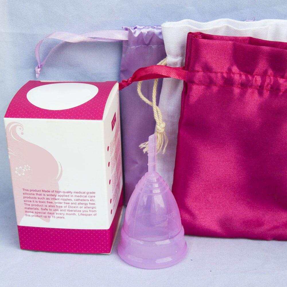 Feminine Hygiene Products Menstrual Cup Top Grade Silicone Copa Menstrual Copa Lady Women Use Menstruation Cup 23
