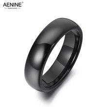 AENINE – bagues en céramique noire brillante pour femmes, 6mm, bijoux tendance, Style bohémien, pour fête d'anniversaire, pour filles, AR19053