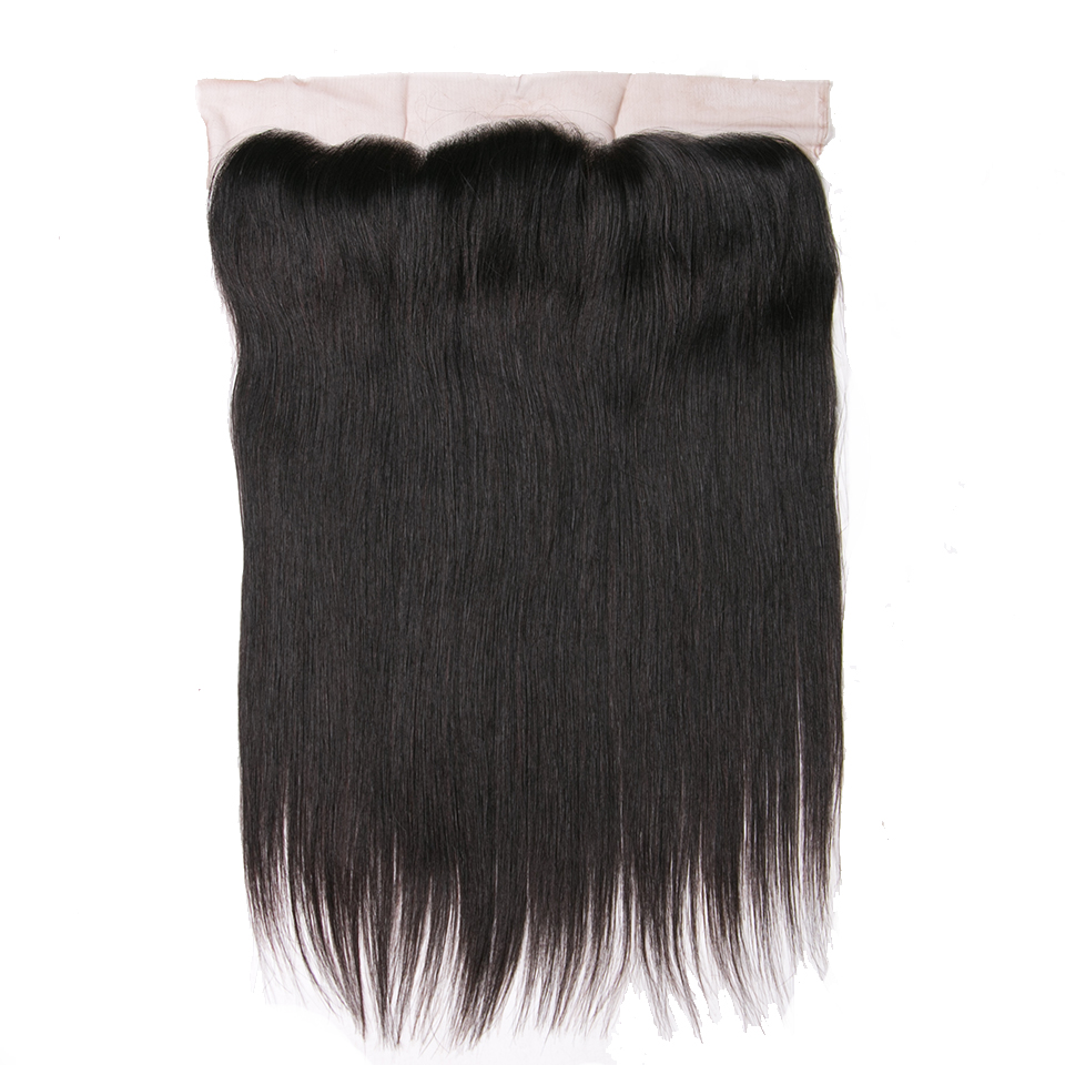 130 Density Natural Color Free Part Human Hair Natural Hairline Queenlike Remy Straight Hair 13x4 Ear