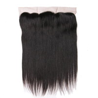 Natural Color Free Part Natural Hairline Human Hair Lace Frontal Closure Queen Like Straight Hair 13x4