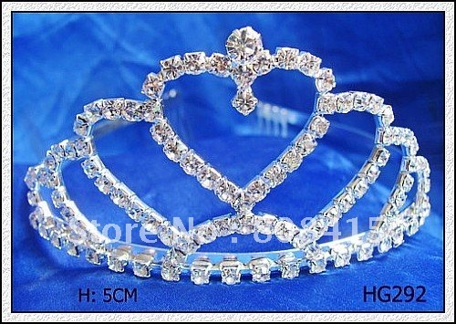 Free Shipping Rhinestone Crystal Diamond Tiara Crown for Wedding/Bridal/Pageant / Hair Jewelry Factory Wholesale
