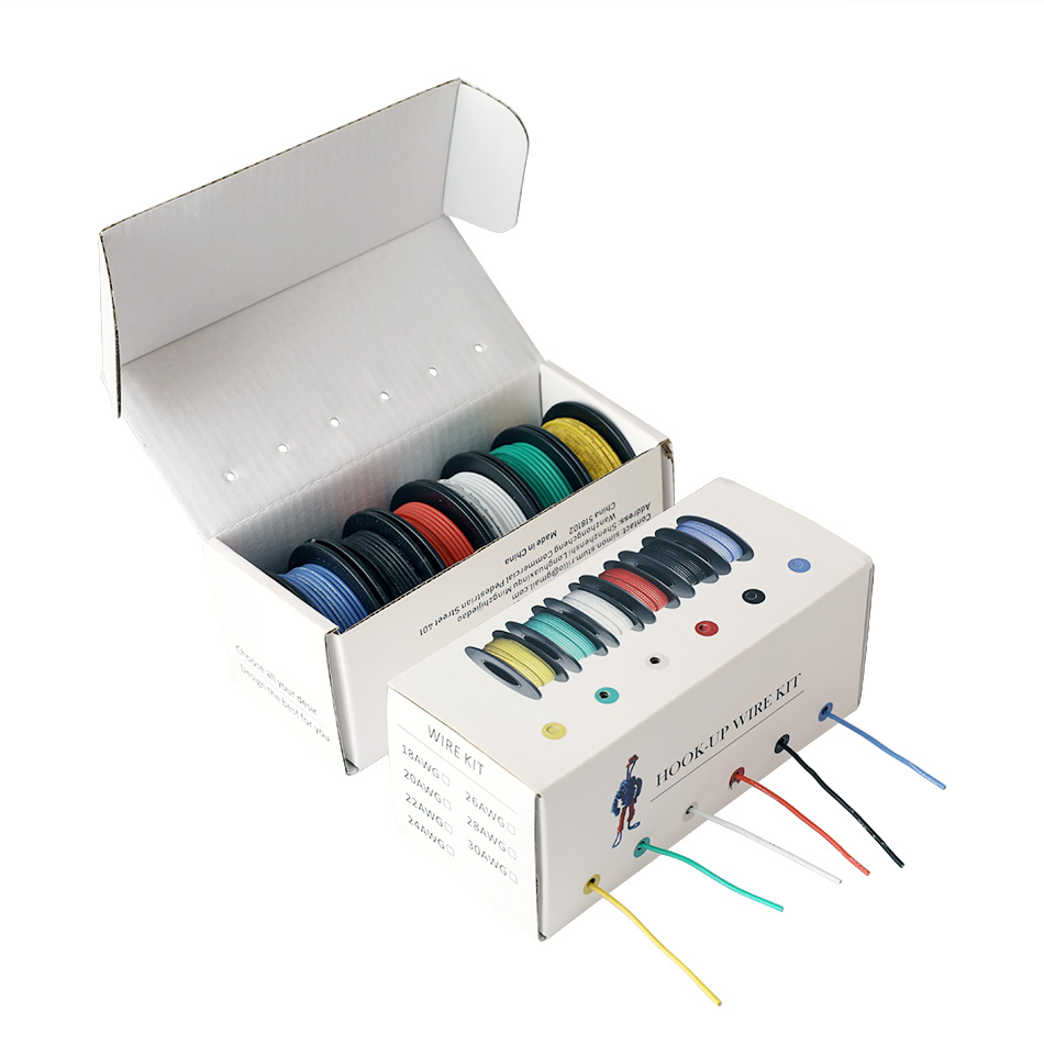 26/24/22/18 awg (6 видов цветов Набор многожильных проводов) Соединительный Электрический провод Соединительный кабель силиконовый изоляционный ...