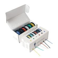 26/24/22/18 awg ( 6 renk karışımı telli tel kiti) hook up elektrik teli kablo Jumper silikon yalıtım tel elektronik tel