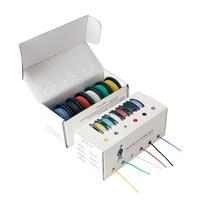 60 м/коробка 196ft крюк-вверх многожильный провод 26 AWG UL3132 гибкий силиконовый провод резиновый изолированный Луженая Медь 300 в 6 цветов 10 м/цвет