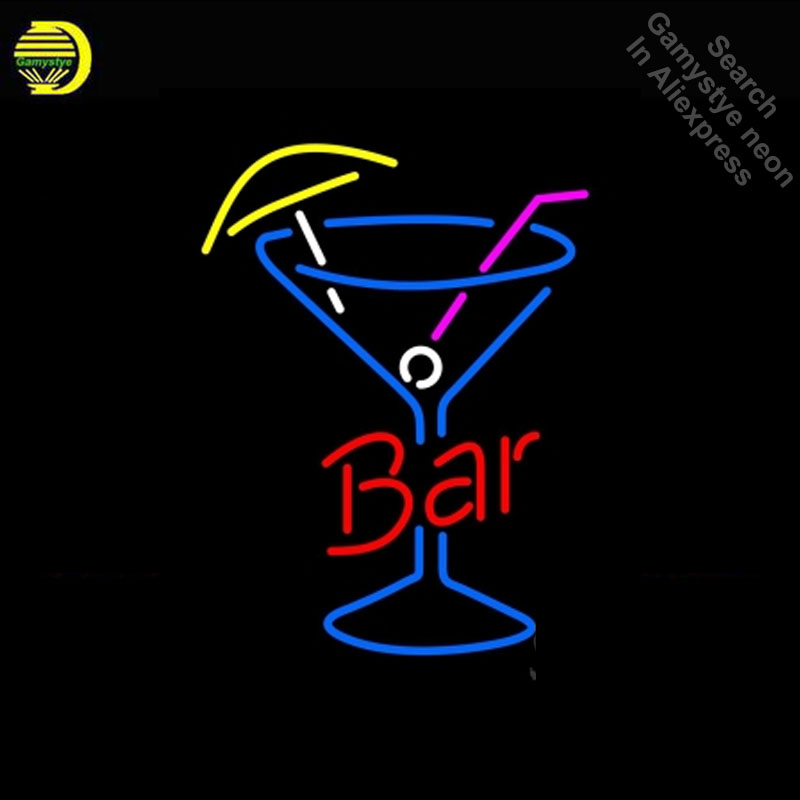 Neon Sign for Bar In Between Martini Neon Bulb sign handcraft Real Glass tubes Decorate windows neon sign maker Dropshipping