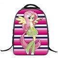 Novos sacos de escola para meninas encantadoras Dos Desenhos Animados My Little Pony cavalo impressão mochilas crianças bookbags 16 polegada grandes mochilas de capacidade