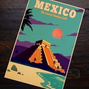Reklama meksyk Vintage Propaganda Retro Vintage plakat z papieru typu Kraft dekoracyjne DIY płótno ścienne naklejki Home Bar plakaty Decoratio