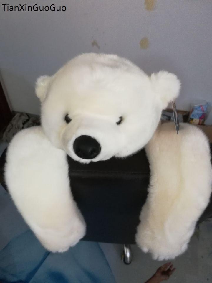 large 55cm lovely prone polar bear plush toy white lying bear soft doll throw pillow Christmas gift s2223 huge 120cm lovely gaint panda plush toy soft doll throw pillow christmas gift b1475