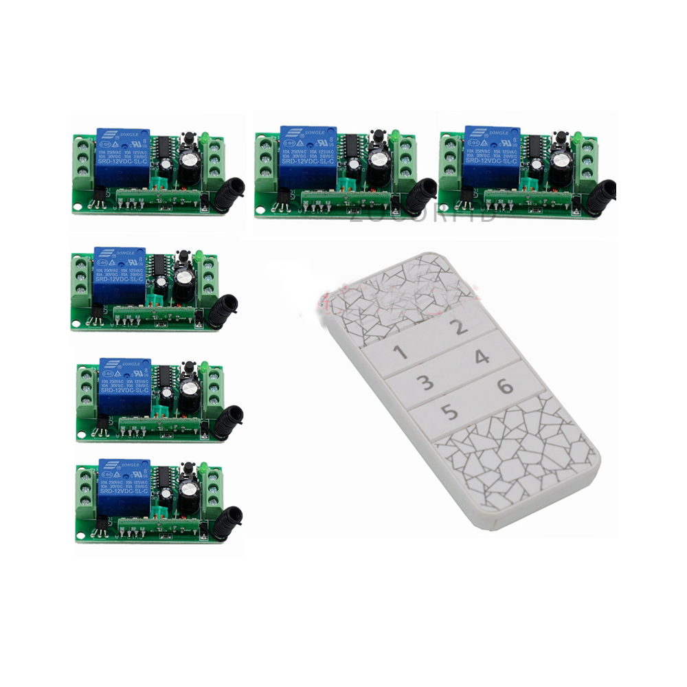 DIY 6 Channel Wireless Remote Control Switch Digital Remote Control Switch for Home appliance