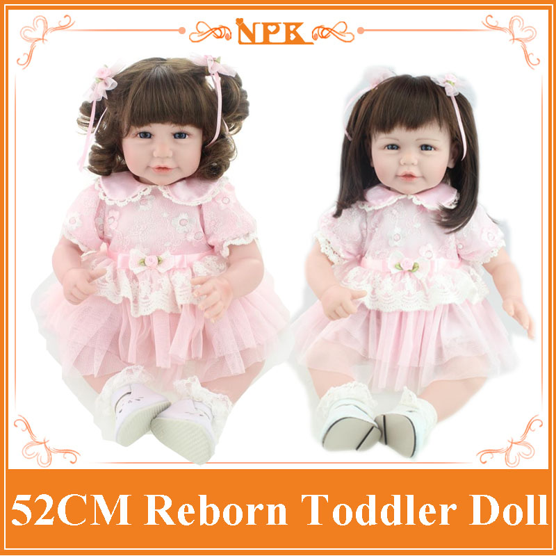 Wholesale 20'' Hot Style Lifelike Reborn Toddler Dolls With Unique Design 20'' Doll Clothes Merry Christmas Best Gift / Doll Toy short curl hair lifelike reborn toddler dolls with 20inch baby doll clothes hot welcome lifelike baby dolls for children as gift