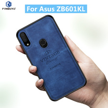 цена на For Asus ZB602KL Original PINWUYO VINTAGE PU Leather Protective Phone Case for Asus Zenfone Max Pro M1 ZB601KL Cell Phone Cover