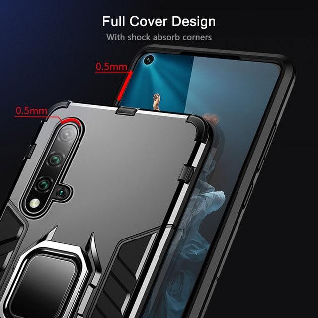 KEYSION Antiurto Armatura di Caso Per Huawei Mate 30 20 Pro P30 P20 lite P Smart Y5 Y6 Y7 Y9 2019 copertura del telefono per Honor 20 Pro 10i 10 lite 8a 8X 9X 4