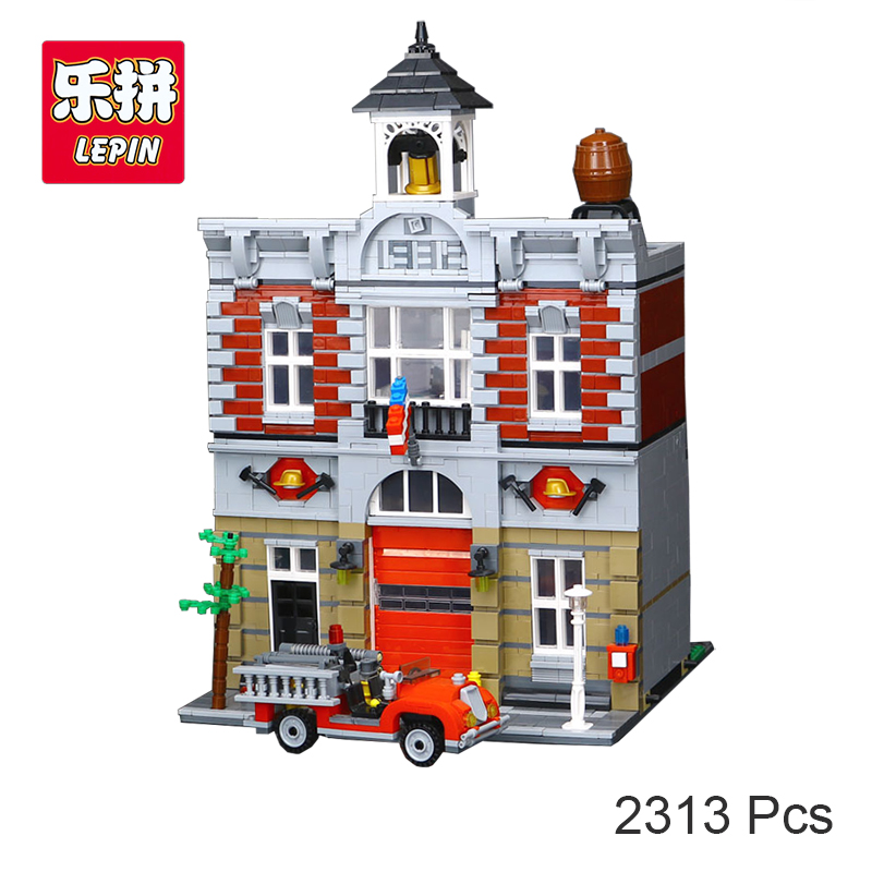 Lepin 15004 City Fire Brigade House Building Kits Assembling Blocks Compatible with Legoing 10197 Educational Gift Funny Toy летняя шина pirelli cinturato p1 verde 195 50 r15 82v