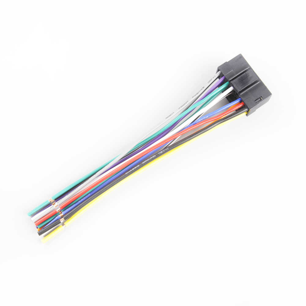 car radio harness adapter stereo wire wiring power cable for sony headunit 16 pin  [ 1000 x 1000 Pixel ]