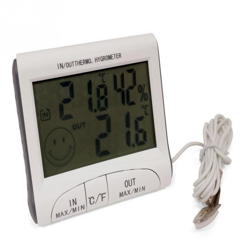 Analysatoren Gewissenhaft Hohe Qualität Temperatur Feuchtigkeit Lcd Indoor/outdoor Digital Thermometer Hygrometer Meter Wired Externe Sensor Wetter Tester Dinge Bequem Machen FüR Kunden