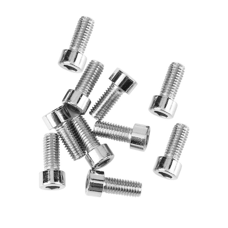 10Pcs Bike Bicycle Water Bottle Cage Holder Bolt Aluminum Alloy Threaded Screw