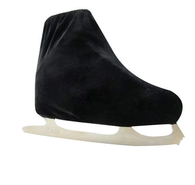 1 pair Ice Skating Figure Skating Shoes Velvet Cover Roller Skate Anti Dirty Flannelette Elastic For Kids Adult Anti Grinding 3