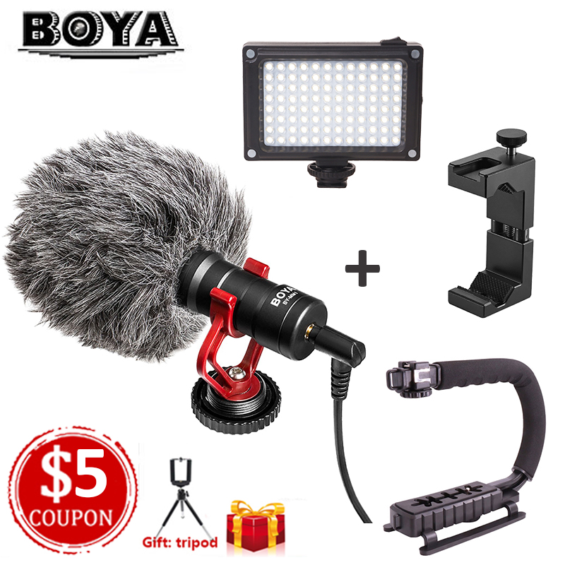 все цены на BOYA BY-MM1 Microphone Camera Video Recording Mic Microfone for Zhiyun DJI Osmo Mobile Camera Canon Mic for iPhone Xs Samsung онлайн