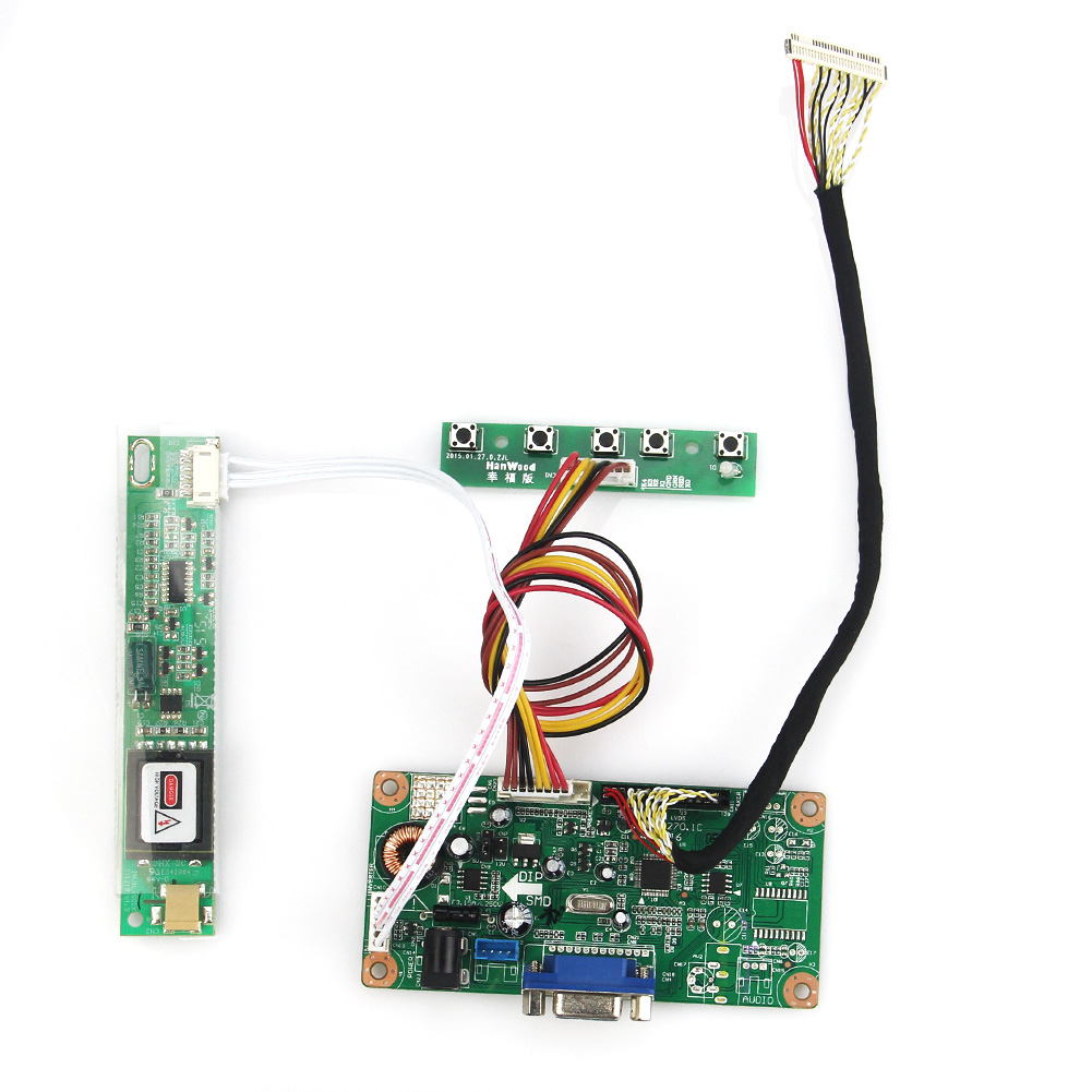 VGA Board For LP154WX4-TLC1 B154EW08  LCD/LED Control Driver Board 1280x800 LVDS Monitor Reuse Laptop