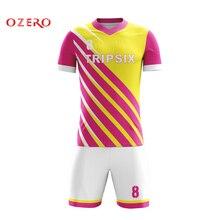 Sublimé oem maillots de football ensemble t chemise pour hommes créer une  équipe de football uniforme 8afddf6422f14